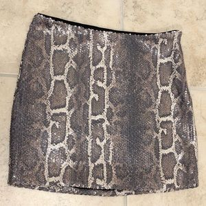 Snake Skin Mini Skirt - XS Tags Attached